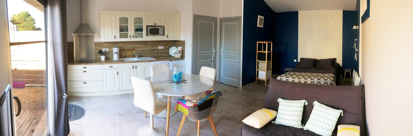 Location Noirmoutier studio intérieur